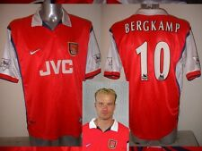 Arsenal BERGKAMP Shirt Jersey football Soccer Nike XL Holland Highbury Ajax JVC