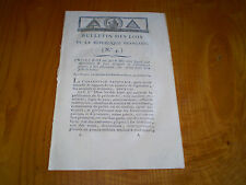 Bulletin des Lois:AN II,1794: Convention Nationale: faux assignats & matériel .