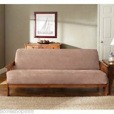 Futon Mattress Sofa Bed Cover Slipcover Soft Suede Woven Full Size Bonded Zipper