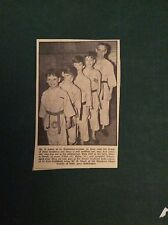 G1-1  Ephemera 1965 picture t jones st ives judo colin brian arlene