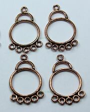 10 pcs Chandelier Earring Components Antiqued Copper Earring Findings