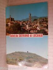 Vecchia cartolina foto d epoca di SATRIANO DI LUCANIA VEDUTA PANORAMA CAMPANILE