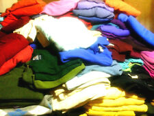100% Cashmere Sweaters Craft Cutter Multi-color Lot of 12 Non Felted Wool Fabric