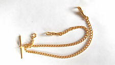 Stunning Gold Plated Double Albert Chain 4 Pocket Watch  / Fob STD Weight
