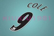 Manchester United Cole #9 PREMIER LEAGUE 97-06 Black Name/Number Set