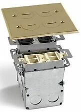 LEW ELECTRIC SWB-4-PQ FLOOR BOX & BRASS COVER  2 GANG