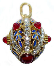 Pendentif Oeuf style Fabergé Argent plaqué Or pendentif