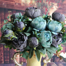 Artificial Fake Peony Silk Purple Flowers Bridal Decor DIY Flower Arrangement