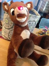 """Large Light Up Nose Rudolph the Red Nosed Reindeer Plush stuffed Animal Toy 12"""""""