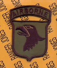 101st Airborne Division Air Assault AASLT Airmobile Vietnam OD green patch B