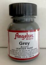 Angelus Grey leather paint 1 oz. bottle