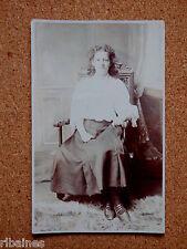 R&L Postcard: Edwardian Lady Portrait, Fashion Interest, Skirt/Shoes