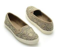 NEW Womens MIA GIRL PLAY TAUPE/GREEN Slip On  Flats Loafers  Shoes sz 7