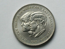 UK (Great Britain) 1981 25 Pence CROWN Coin HRH Prince Charles & Lady Di Wedding