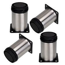 """4 pcs cabinet metal legs adjustable stainless steel kitchen feet stand 6"""""""