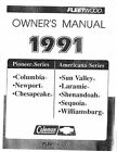 COLEMAN Popup Trailer Owners Manual-1991 Americana Sun Valley Laramie Shenandoah