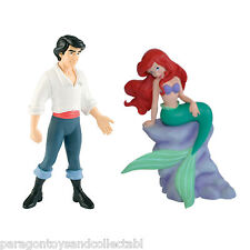 BULLYLAND DISNEY LITTLE MERMAID FIGURES - Ariel and Eric - Great Cake Toppers