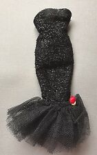 Vintage Barbie #982 Solo In The Spotlight Black Twinkle Mermaid Dress With Rose