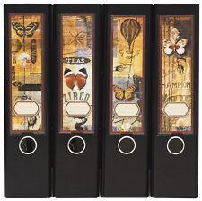 Design Ordner-Rückenschilder zum Einstecken breit - Motiv Butterflies - IC-004