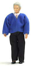 Dollhouse Miniature Doll Grandfather Vinyl Town Square #00068 1:12 Scale