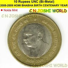 2009 HOMI BHABHA BIRTH CENTENARY YEAR Rs.10 UNC (Bi-Metal) | Ten Rupees # 1 Coin