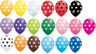 6 Your Choice Color POLKA DOTS Latex Balloons Blue Red Black Pink Yellow Green