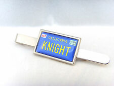 KNIGHT RIDER KITT CAR NUMBER PLATE BADGE TIE SLIDE TIE GRIP BAR GIFT