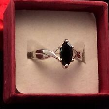 Sterling Silver - AVON Prong-Set Black Quartz 2.7g - Ring (7)