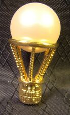 Signed Napier Gold Hot Air Balloon Faux Pearl Pin Brooch Pretty
