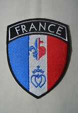 insigne patch catholique écusson drapeau France Fleur de Lys Sacré Coeur Coeur