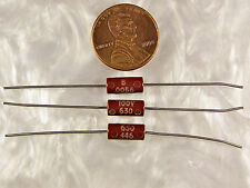 5 Good-All 630 Series .0056uf 100V Molded Tubular Capacitors NOS