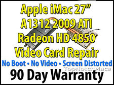"APPLE IMAC 27"" 2009 A1312 ATI RADEON HD 4850 VIDEO/GRAPHICS CARD REPAIR 661-5315"