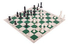 Regulation Tournament Chess Pieces and Chess Board Combo - TRIPLE WEIGHTED