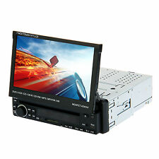 "Single 1 Din 7"" Flip Car Stereo DVD CD VCD Radio Player Touch Screen USB SD"