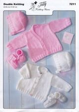 baby knitting pattern cardigans, hat bootees premature newborn up to 2 years