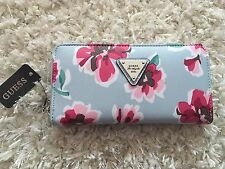 Guess Burbank Blue Multi Floral Wallet Red Pink Floral NWT