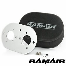 RAMAIR Foam Carb Air Filter With Baseplate to fit Weber 40 IDF 100mm ID Bolt On