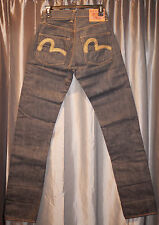EVISU MILLENIUM NATURAL SPECIAL Jeans 26/35 22K Gold Thread NEW #64