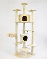 "80"" New Cat Tree Condo Furniture Scratcher Cream"