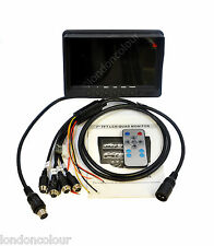 "7"" LCD Colour Quad Colour Monitor For Truck Van Reversing Cameras 4 Channel"