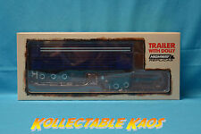 1:64 Highway Replicas - Livestock Road Train - Blue/White - Livestock Trailer