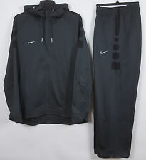 NIKE ELITE STRIPE BASKETBALL WARM UP SUIT HOODIE +PANTS GREY RARE NEW (SIZE 2XL)