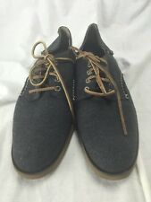 Sperry Top Sider BOAT WOOL OXFORDS GREY Men US 10.5 M SHOE