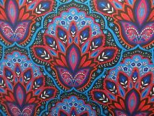 2 yards stretch spandex lycra fabric paisley printed