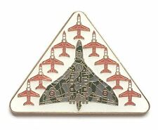 RAF Royal Air Force Vulcan Bomber & Red Arrows Escort Pin Badge Official Product