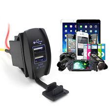 12V 24V Car Auto Barchino Accessorio doppia USB Adattatore Del Caricatore Outlet