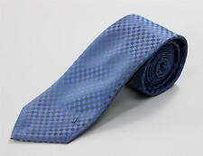 Louis Vuitton Petit Damier Blue Silver Small Check Monogram 100% Silk Tie 3 1/8""
