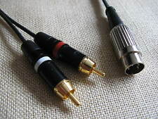 Rogers T75 Tuner 5 pin DIN to two RCA/Phono plugs Interconnect 1.0m length