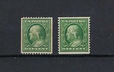 USA1910/11 Coil St.ps SC.n.385 MNH-387 MH -UNIF Nuovog. integra n.250 ling. 252