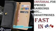 Universal Wallet PU Leather Flip Case Cover iPhone Samsung Galaxy HTC SONY Stand